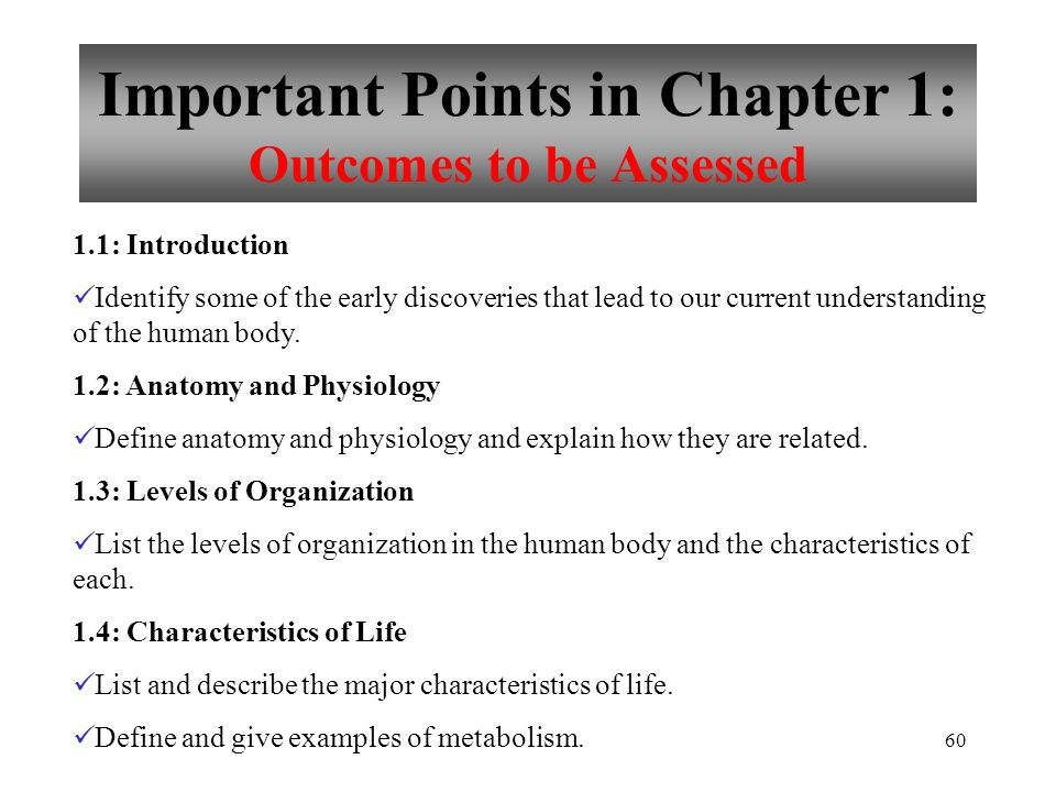 Biology 181: Anatomy & Physiology I Chapter 1 - ppt download