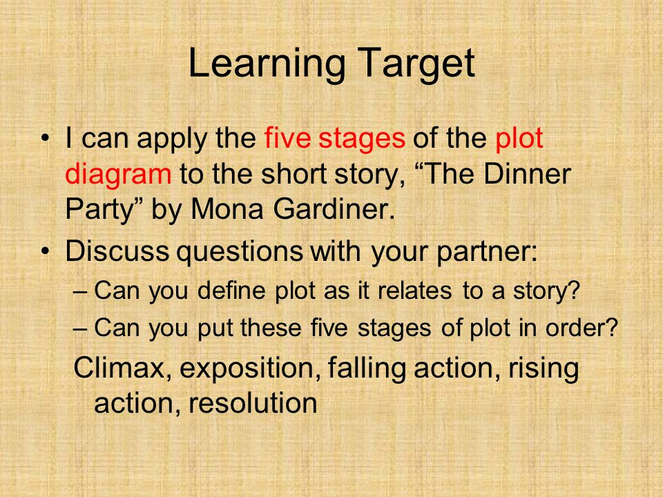 Learning target i can apply the five stages of the plot diagram to learning target i can apply the five stages of the plot diagram to the short story ccuart Choice Image