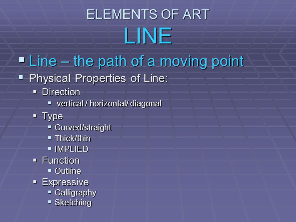 Line – the path of a moving point