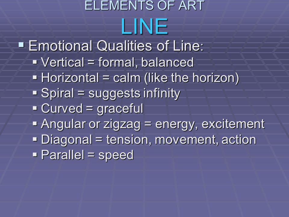 Emotional Qualities of Line: