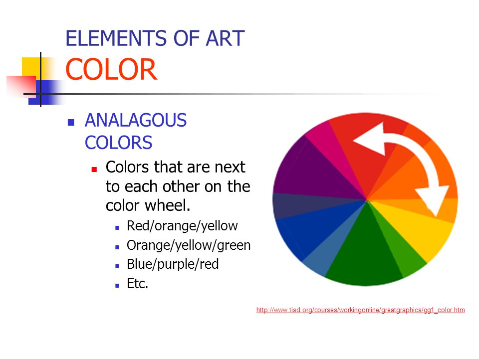 ELEMENTS OF ART COLOR ANALAGOUS COLORS