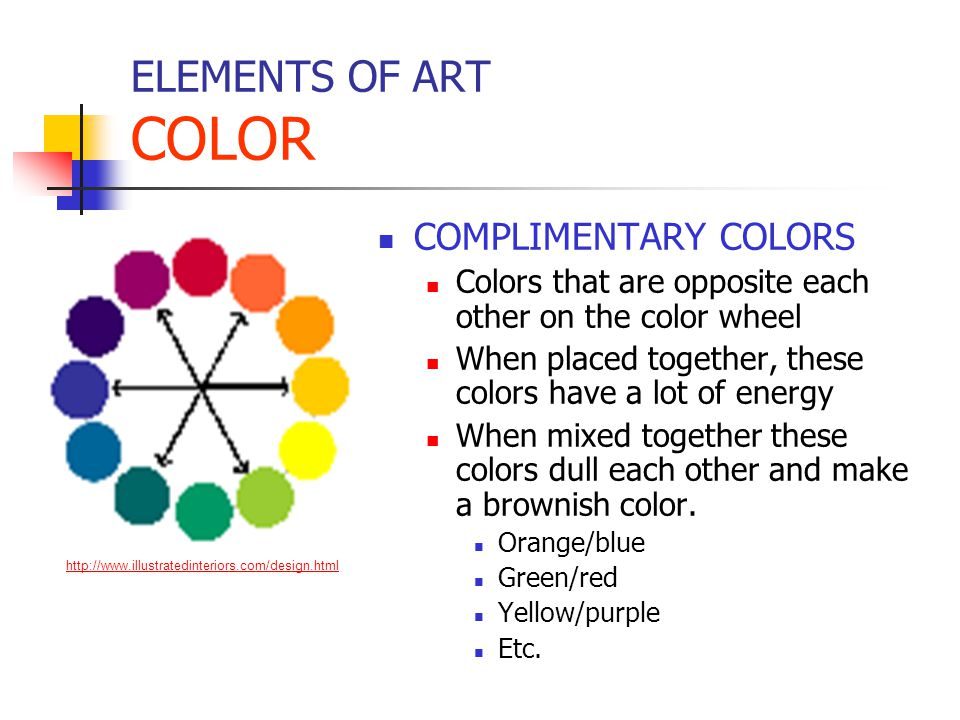 ELEMENTS OF ART COLOR COMPLIMENTARY COLORS