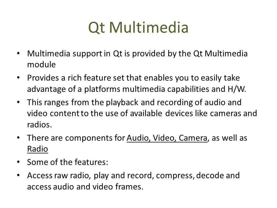Qt Framework Qt History Who uses Qt Benefits Tools and