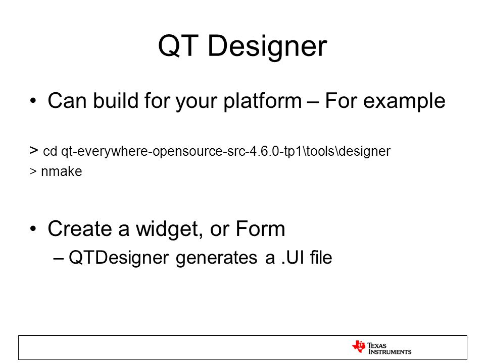 QT/E Workshop on TI Processors Dec ppt video online download