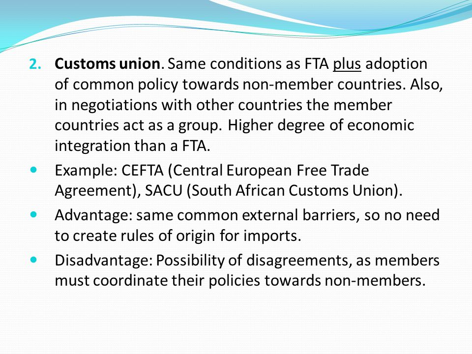 Economic Integration Definition Economic Cooperation Between