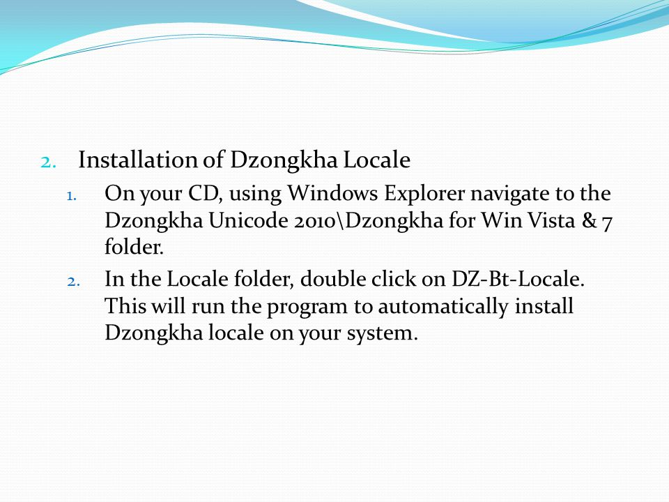 Installation of Dzongkha Locale