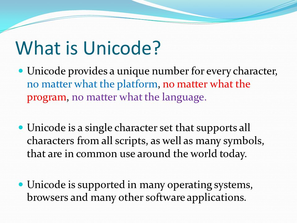 What is Unicode