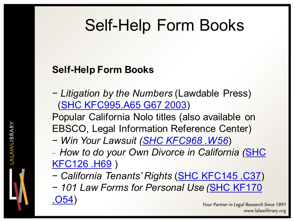 California Conference On SelfRepresented Litigants Ppt Video - Law forms for personal use