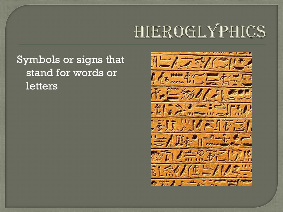 when letters stand for words ancient vocabulary ppt 25624 | Hieroglyphics Symbols or signs that stand for words or letters