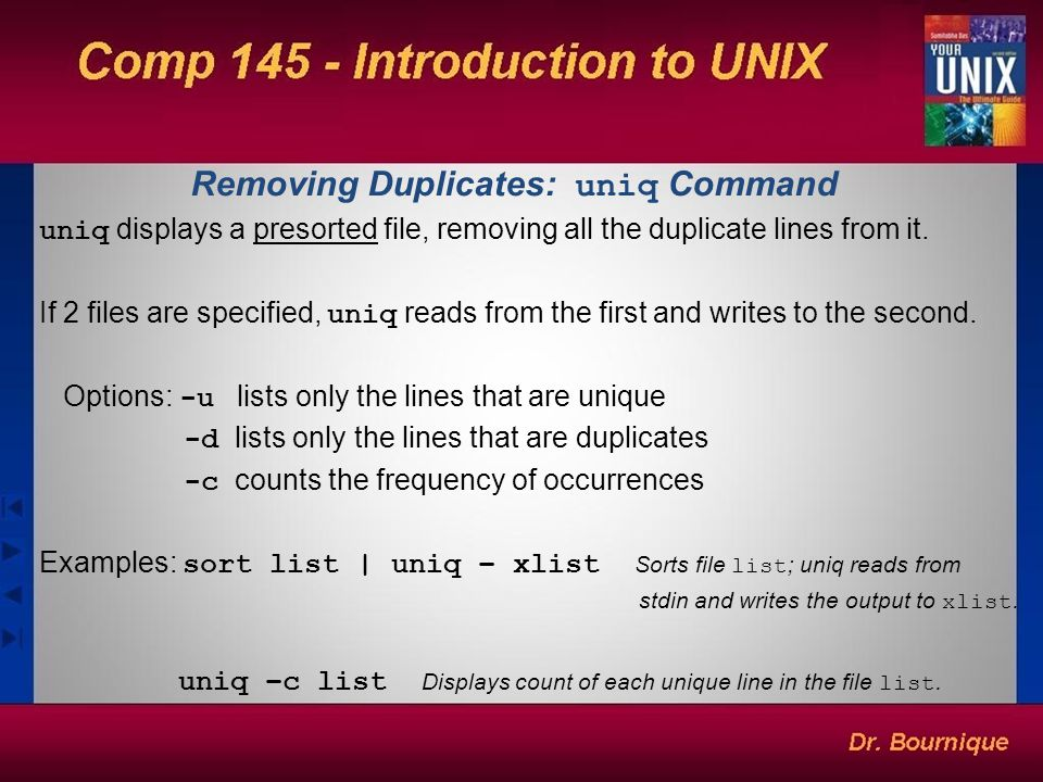 Removing Duplicates: uniq Command