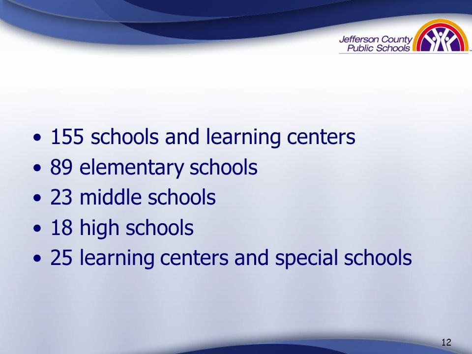 155 schools and learning centers
