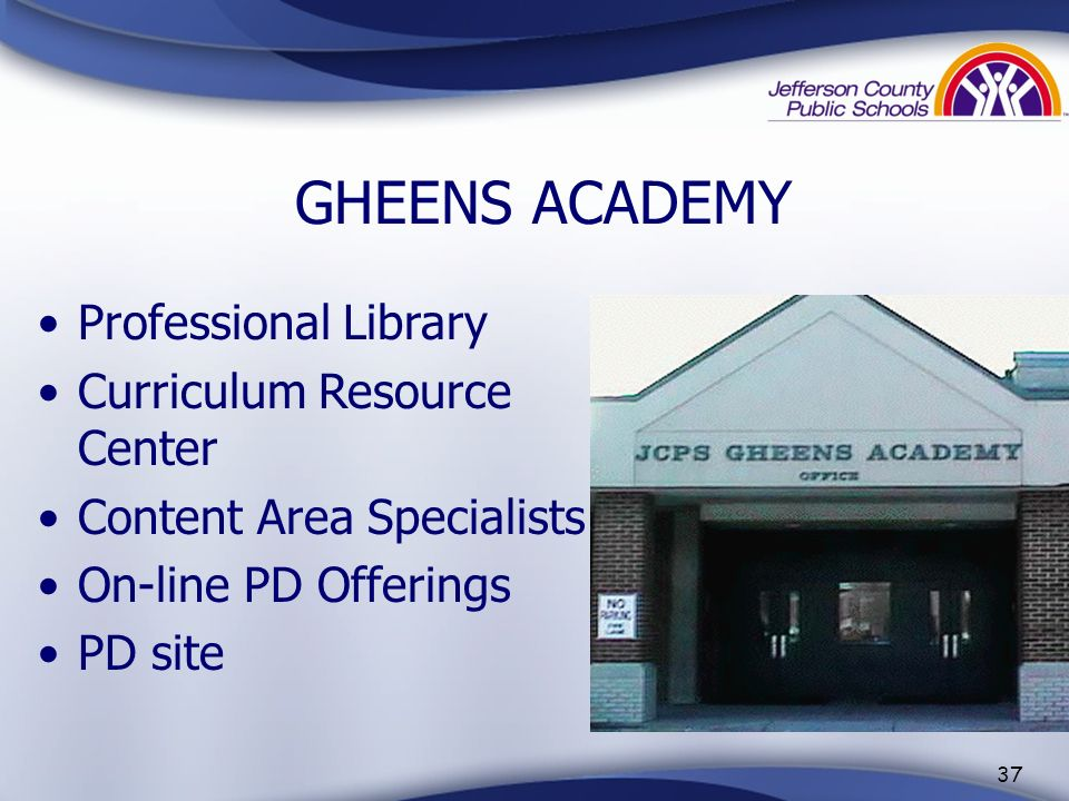 GHEENS ACADEMY Professional Library Curriculum Resource Center