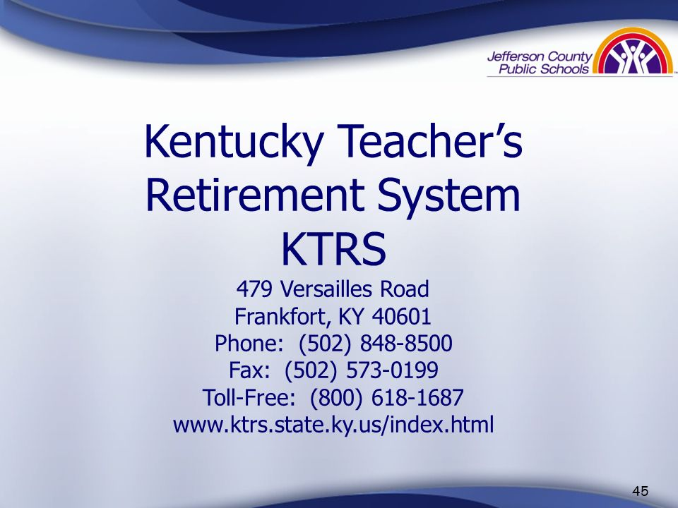 Kentucky Teacher's Retirement System