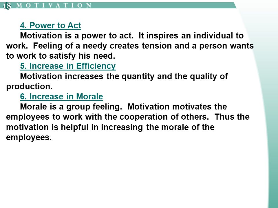 4. Power to Act