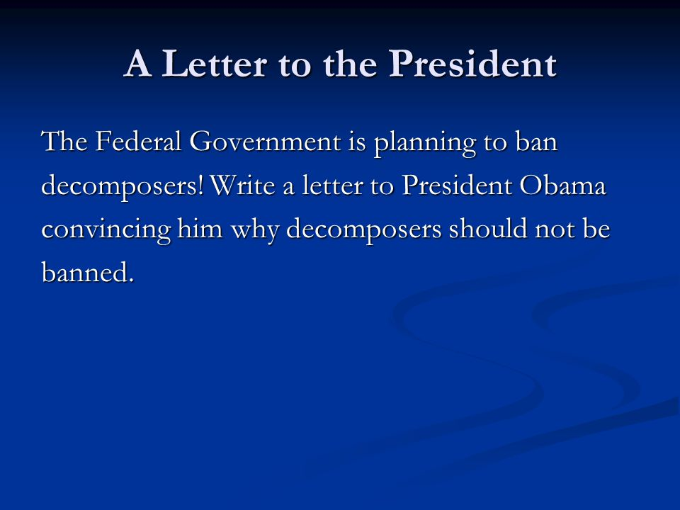 how to write a letter to the president