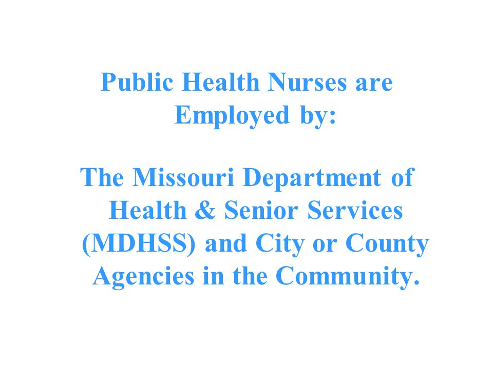 Public Health Nurses are Employed by: