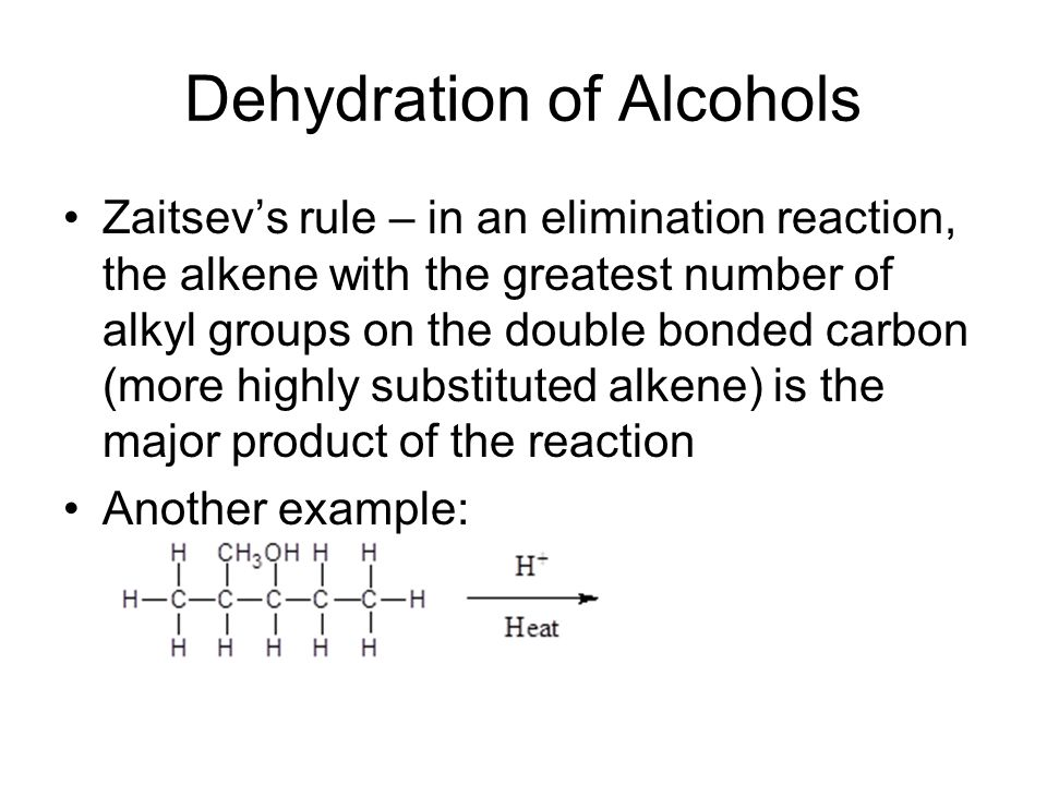 dehydration of alcohol practice problems