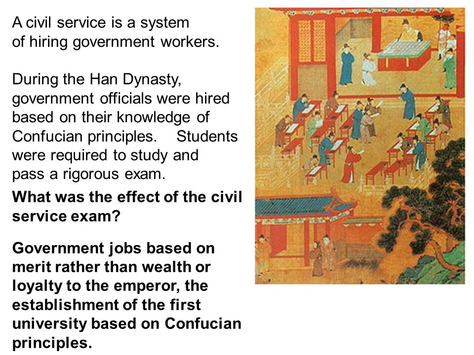 A civil service is a system