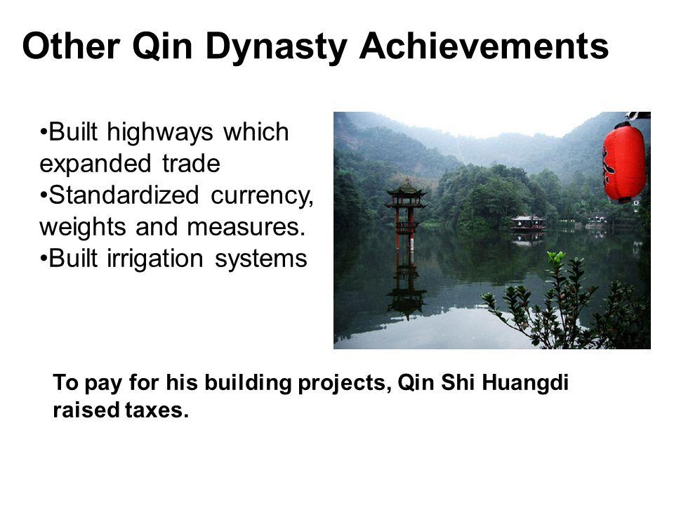 Other Qin Dynasty Achievements