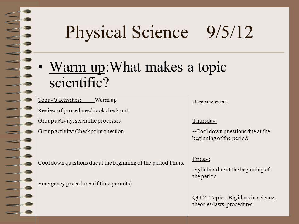 cool science topics