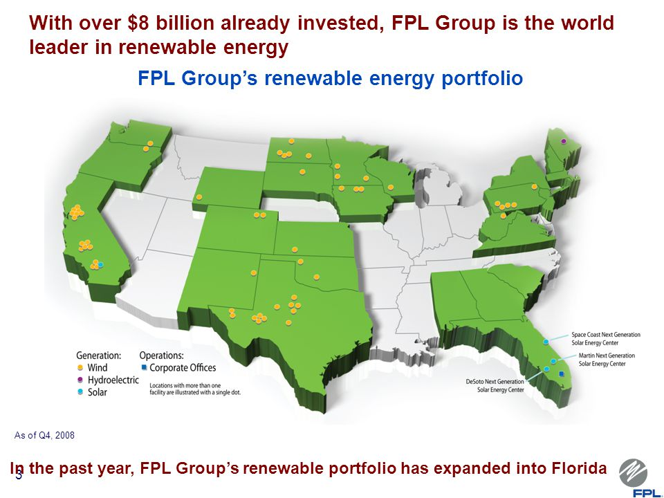 FPL Groupu0027s Renewable Energy Portfolio
