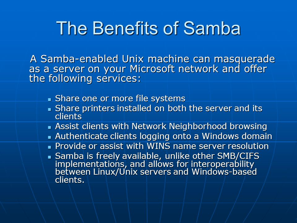 FINAL PROJECT SAMBA Server - ppt video online download