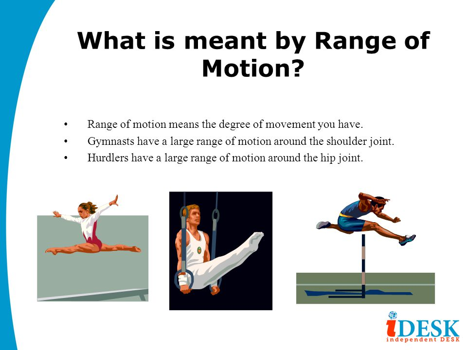 What is meant by Range of Motion