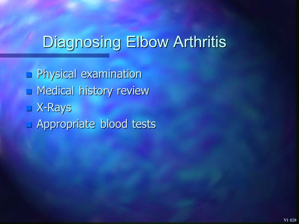 Diagnosing Elbow Arthritis