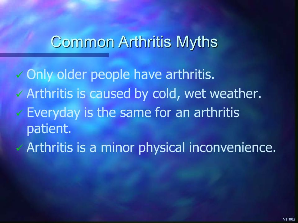 Common Arthritis Myths