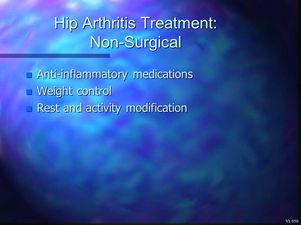 Hip Arthritis Treatment: Non-Surgical