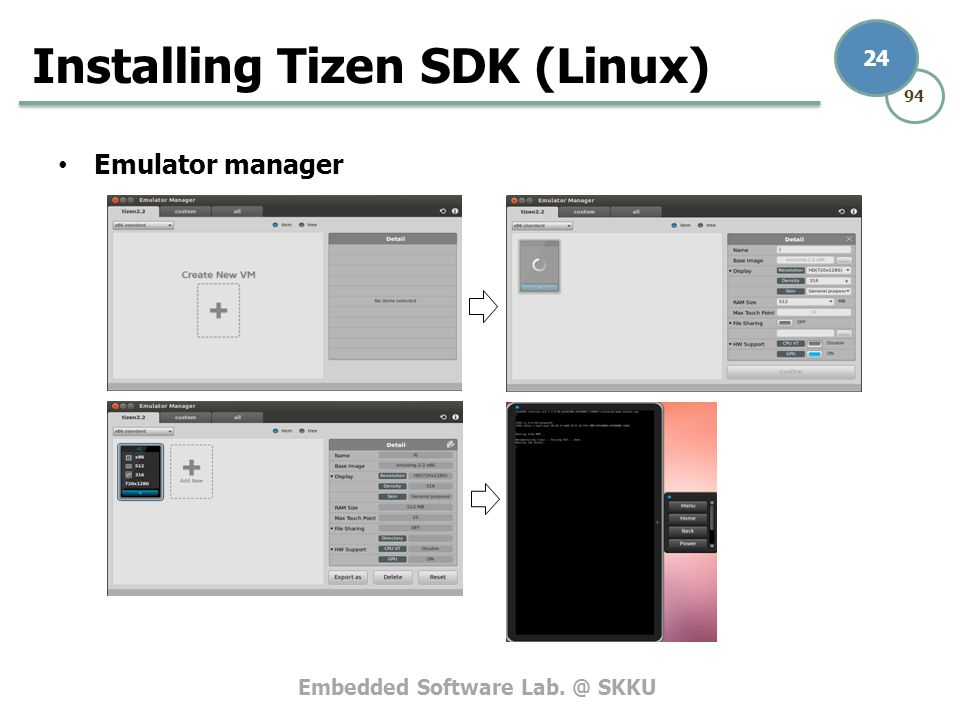 Tizen emulator manager not starting   Tutorial to install Tizen OS