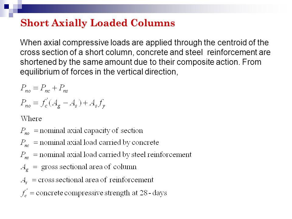 COLUMNS  COLUMNS Introduction According to ACI Code 2 1, a