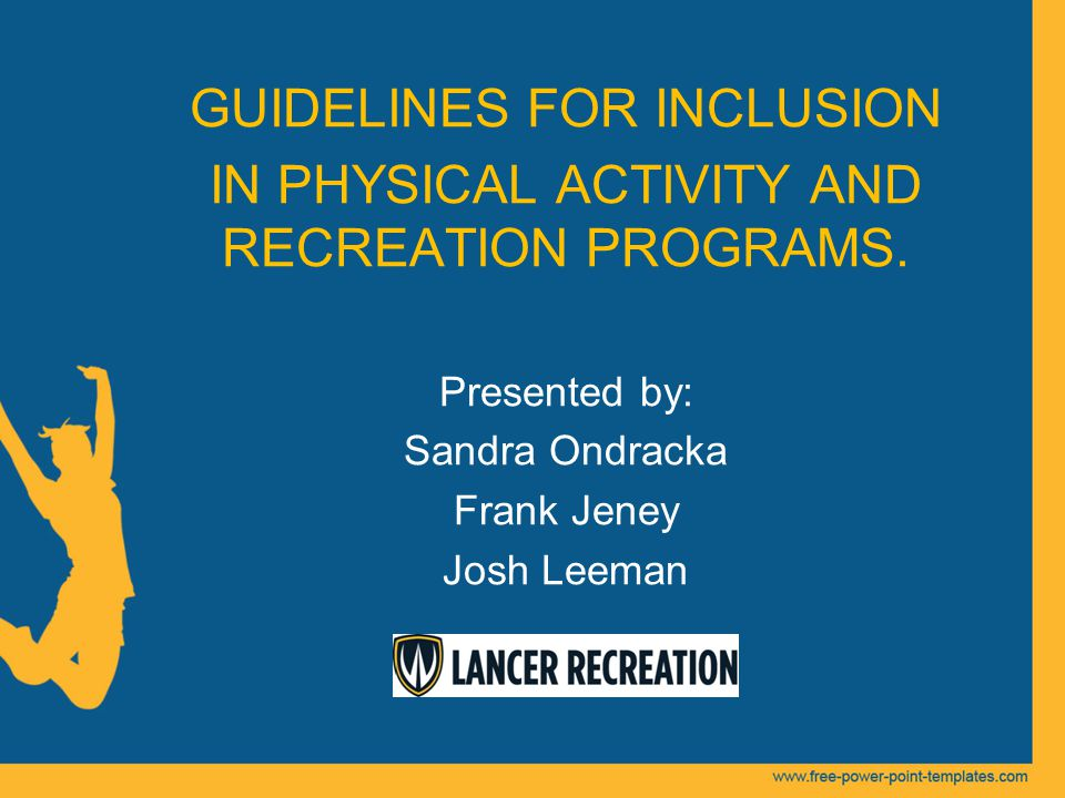 Guidelines for inclusion in physical activity and recreation guidelines for inclusion in physical activity and recreation programs toneelgroepblik Images