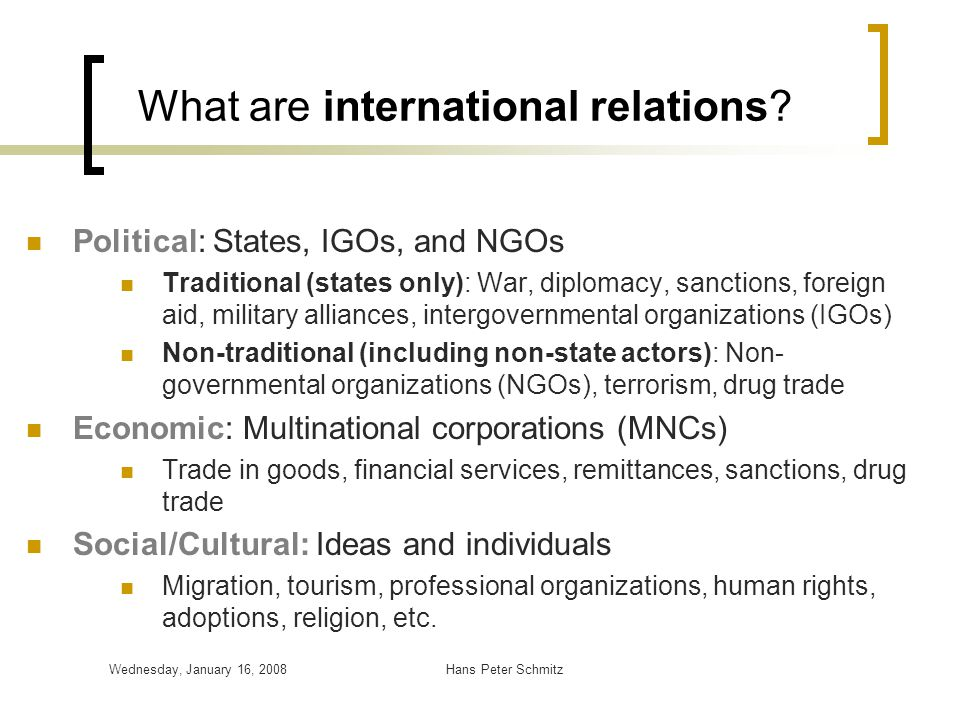 International Relations - ppt download