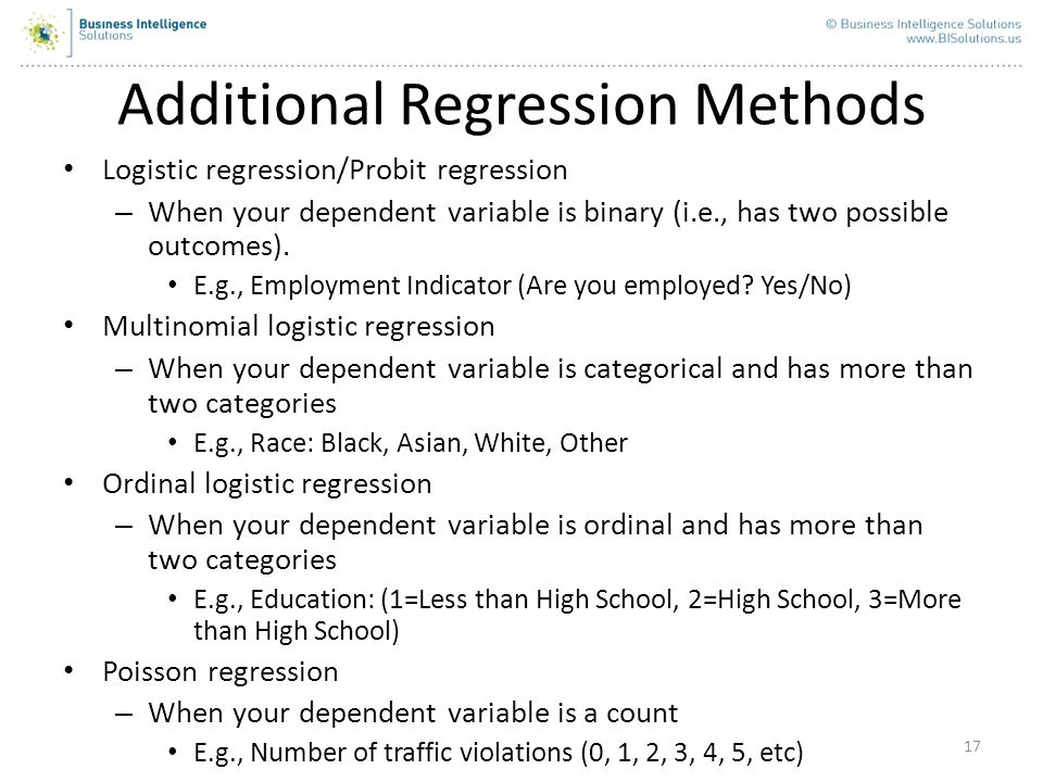 Additional Regression Methods
