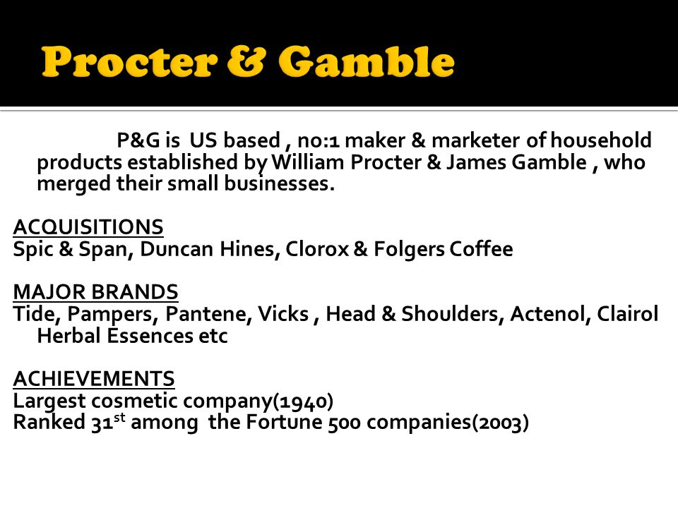 procter and gamble case study answers