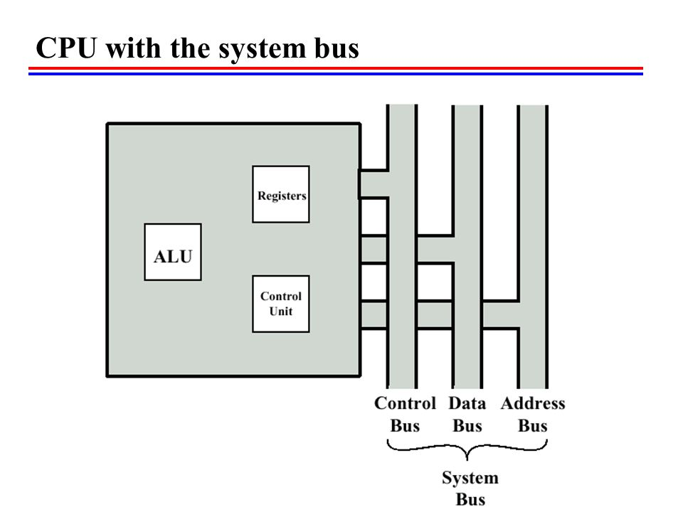 CPU with the system bus