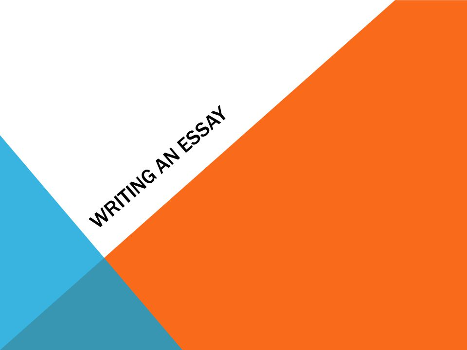 Writing an Essay