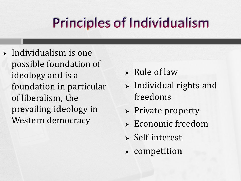 Ideologies Of Individualism Collectivism Ppt Download