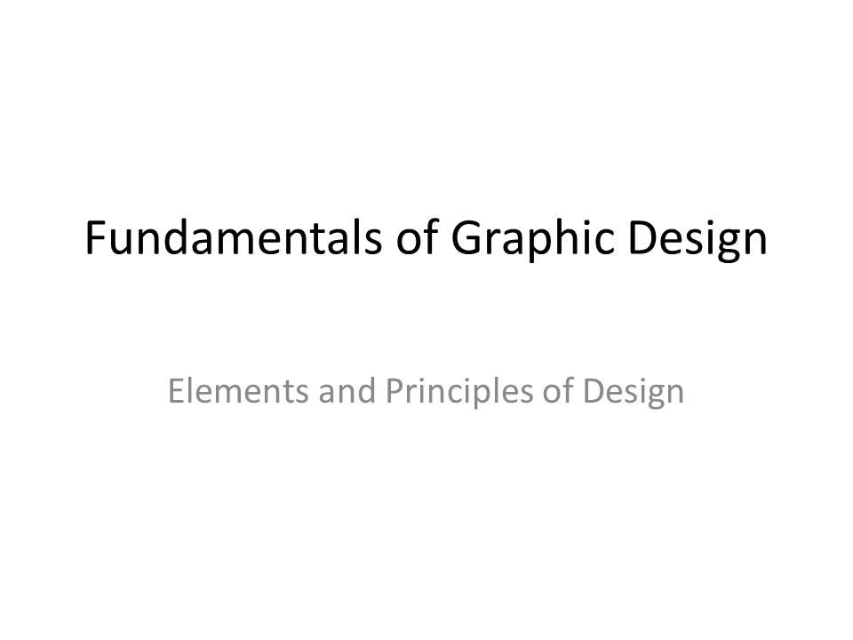 Fundamentals of Graphic Design