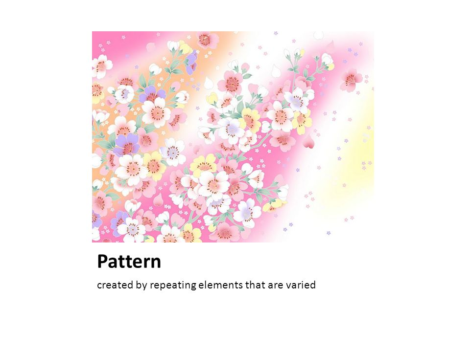 Pattern created by repeating elements that are varied