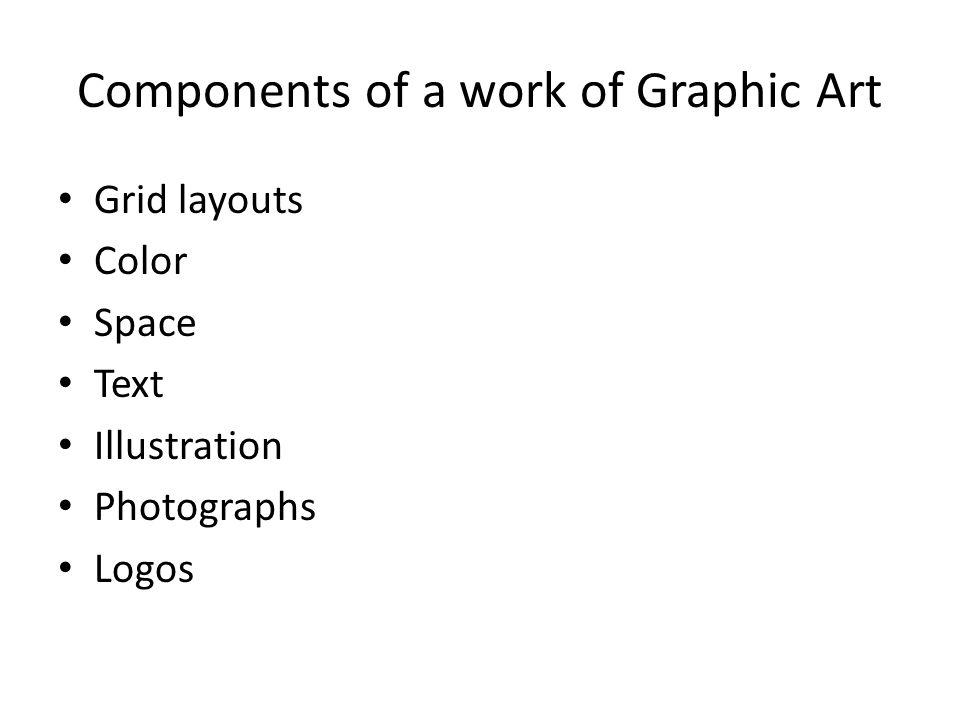 Components of a work of Graphic Art