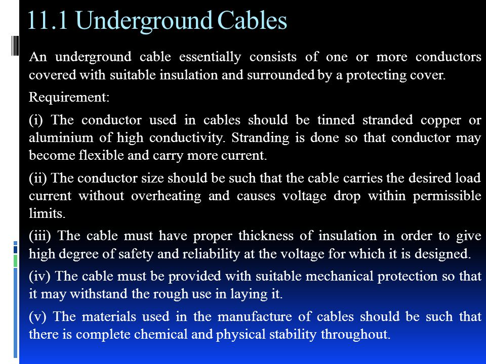 Underground Cables Chapter 11 V K MEHTA  - ppt video online