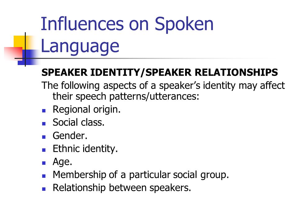 how does language affect identity