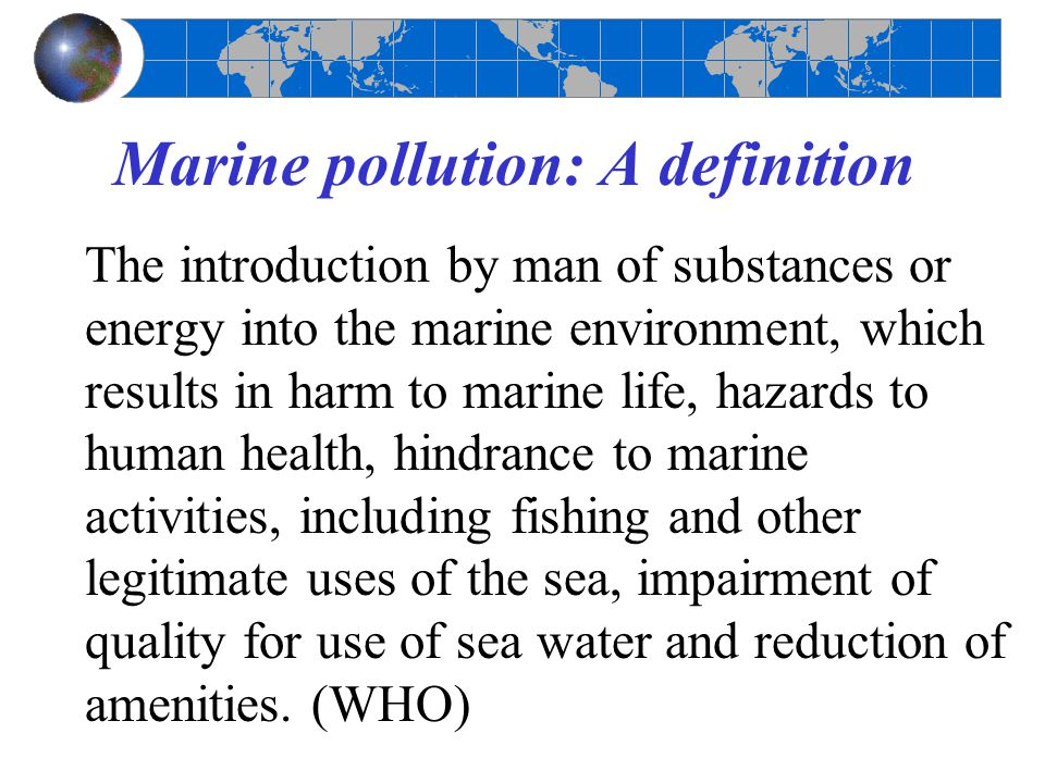 what causes marine pollution
