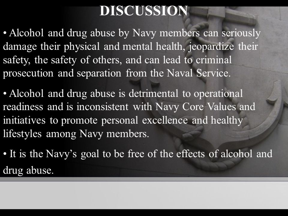 Navy Drug And Alcohol Abuse Prevention And Control Opnavinst D Ppt