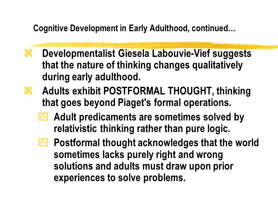 labouvie vief cognitive development