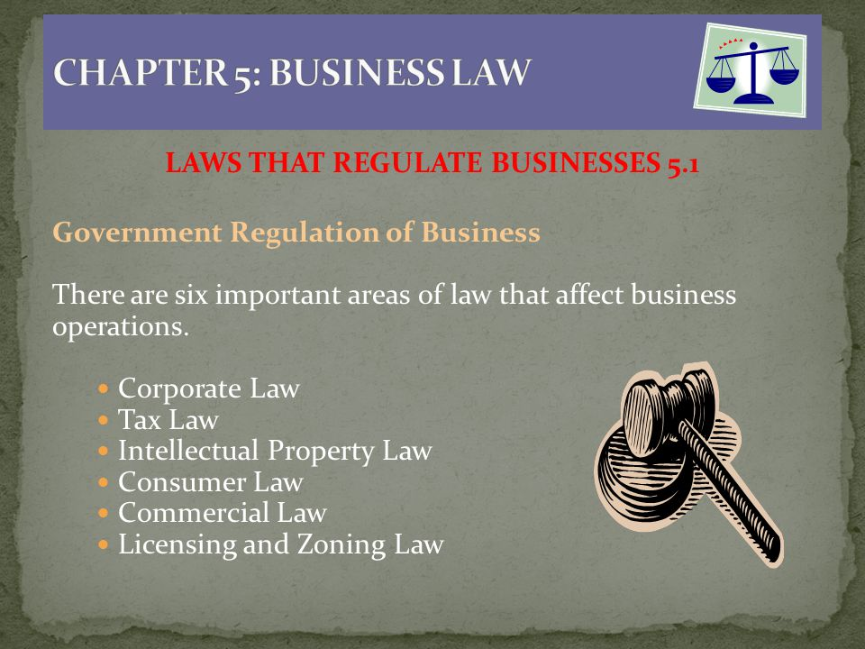 laws that regulate businesses 51