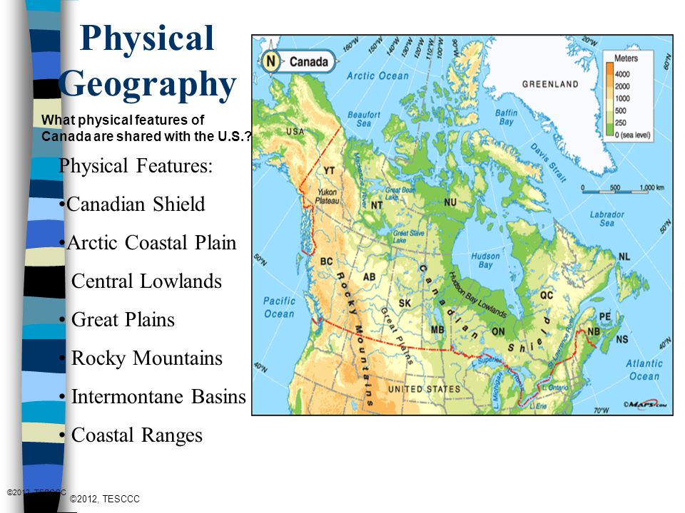 Regions of North America: Canada - ppt video online download