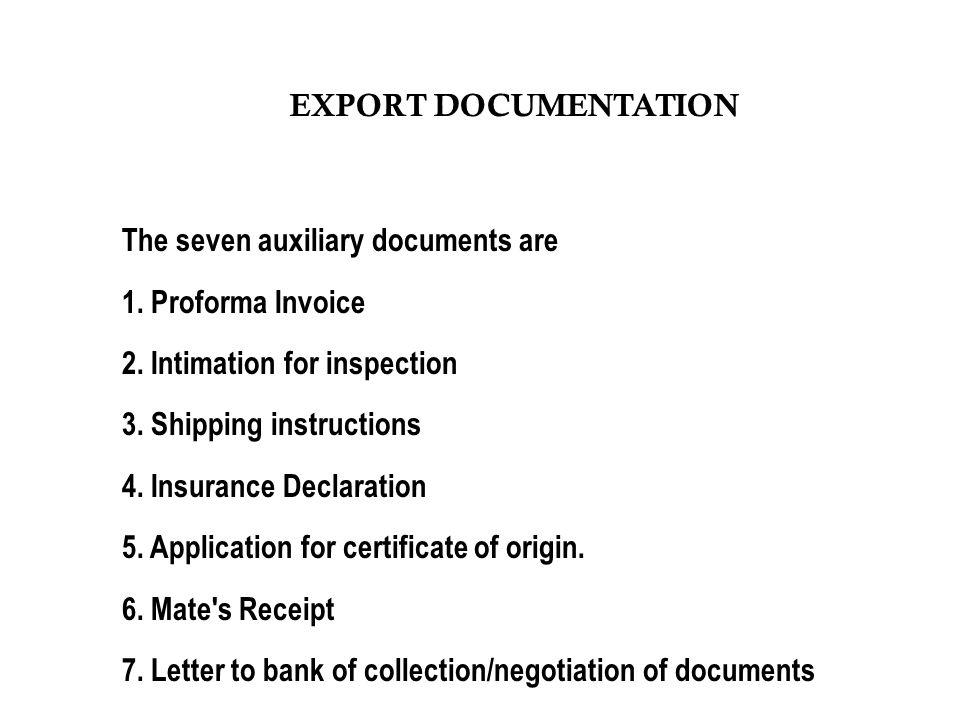 EXPORT DOCUMENTATION  - ppt download